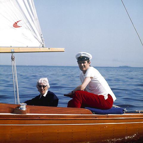 Prince Henrik sails with his mother Countess Renée de Monpezat.